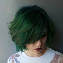 10 Green Bob With Bangs